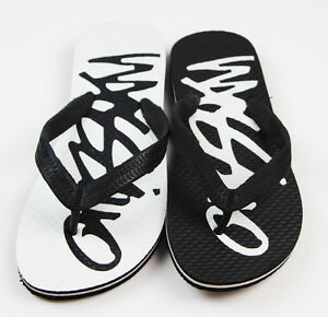 NEW-BOYS-KIDS-MOSSIMO-SCRIPT-THONGS-BLACK-WHITE-BLUE-FLIP-FLOPS-SHOES-ALL-SIZES