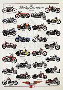 Motorcycle Military Harley-Davidson Poster Art Print