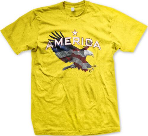 America Bald Eagle Flag Majestic /'Merica Freedom FREE SHIPPING New Men T-shirt