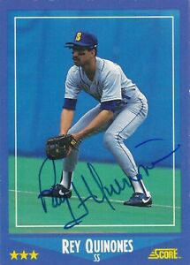 REY QUINONES SEATTLE MARINERS SIGNED 1988 CARD BOSTON RED SOX PITTSBURGH PIRATES