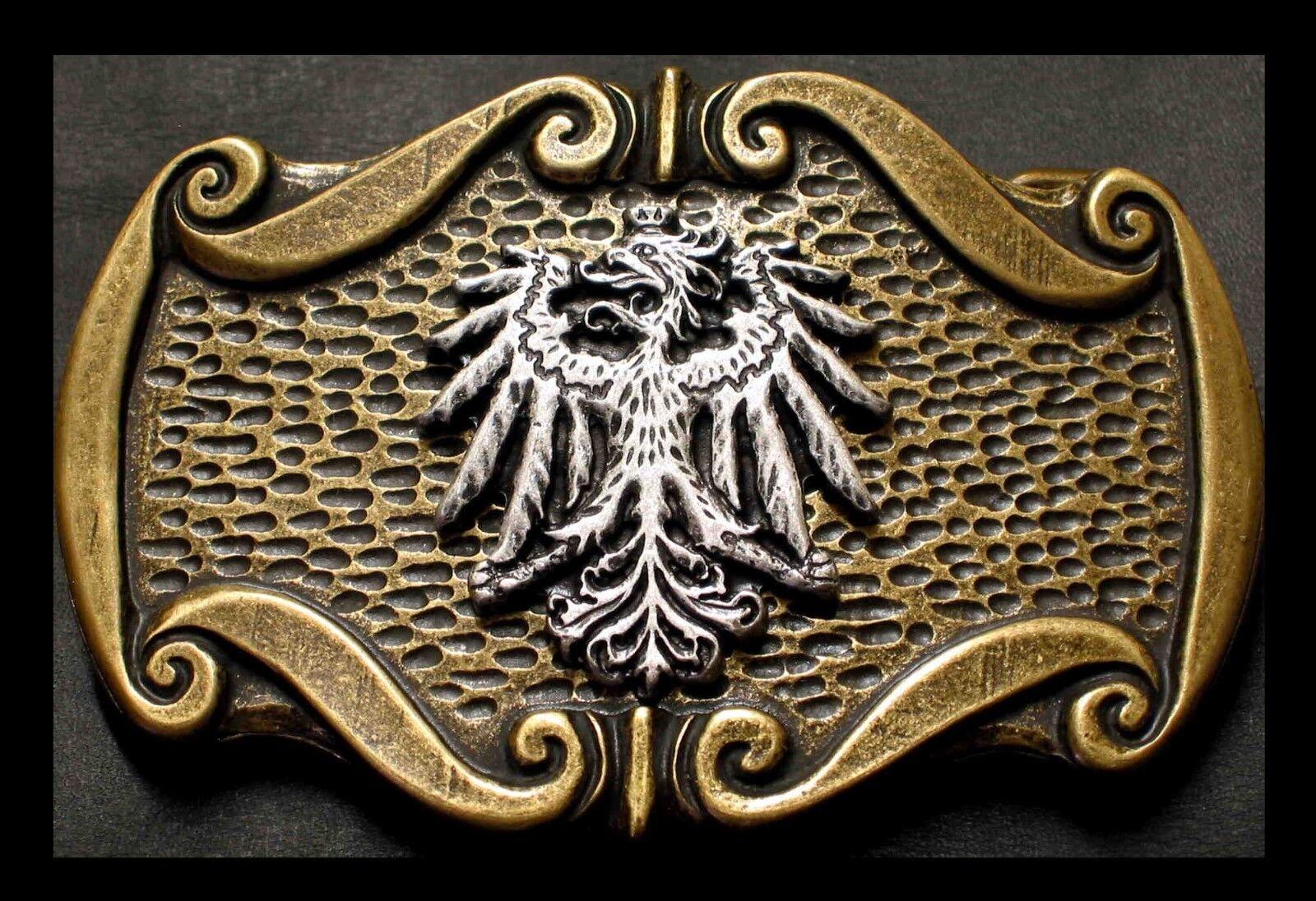 PREMIUM Gürtelschnalle NEU Wappen ALTMESSING Bundesadler ADLER Trachtengürtel #