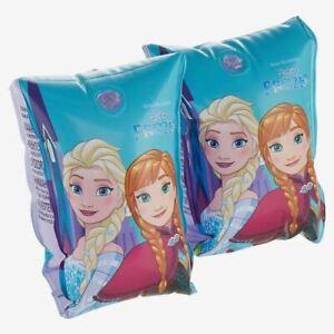 Official-Disney-Frozen-Anna-amp-Elsa-Inflable-Ninos-Brazaletes-Piscina-Flotar