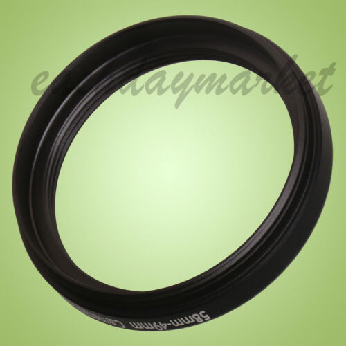 58mm to 49mm 58-49mm 58mm-49mm 58-49 Stepping Step Down Filter Ring Adapter