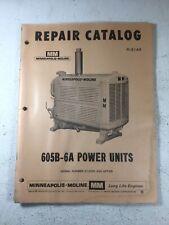 Minneapolis Moline 605b 6a Power Unit Parts Manual