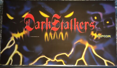 "Dark Stalkers 27/""x15.5/"" Dynamo Big Blue Arcade Marquee"