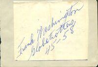 1940's Harlem Globetrotter FRANK WASHINGTON Autograph