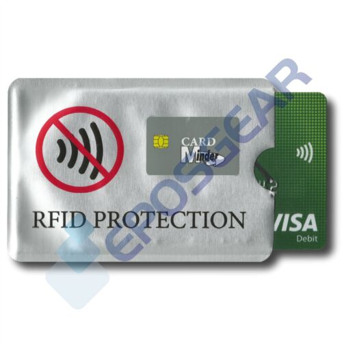 1 Card Minder RFID Blocking Contactless Debit Credit Protector Sleeve Wallet