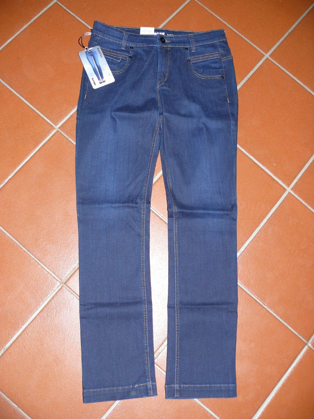 Joker appena JEANS Angelina PERFECT FIT FIT FIT 4798 341 blu scuro scuro extra NUOVO dedf1a