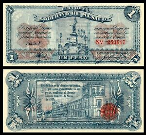 Mexico-SOBERANO-DE-MEXICO-1-Pesos-1915-Pick-S881-UNC