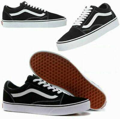 DE VAN S1 Damen Herren Old Skool Skate Freizeitschuhe Sneaker Canvas Schuhe   eBay