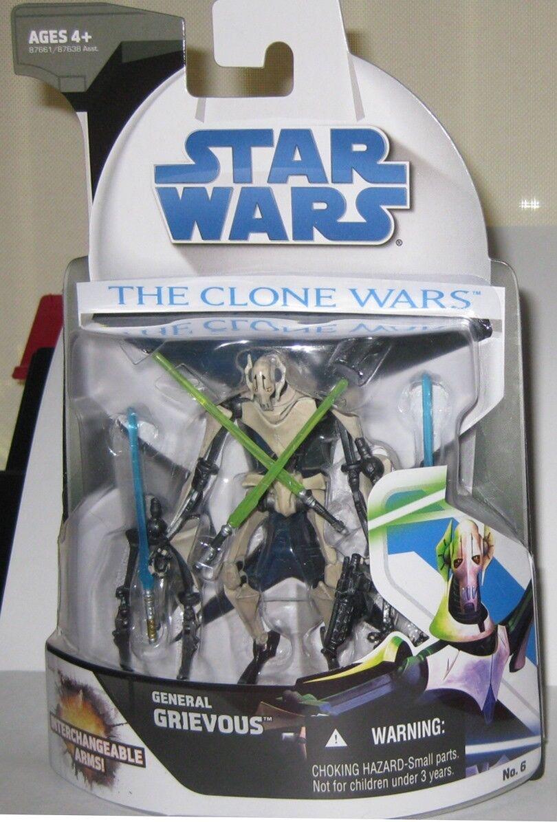 Star - wars - den klonkriegen general grievous auswechselbare arme zahlen bnib 2008
