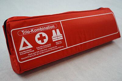 Auto-anbau- & -zubehörteile Ernst Rot Trio 3in1 Kombitasche Verbandtasche Warnweste Warndreieck Verbandkasten Auto Attraktive Designs; Auto-anbau- & -zubehörteile