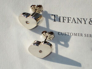Tiffany-amp-Co-Paloma-Picasso-Sterling-Silver-Diamond-Modern-Heart-Stud-Earrings