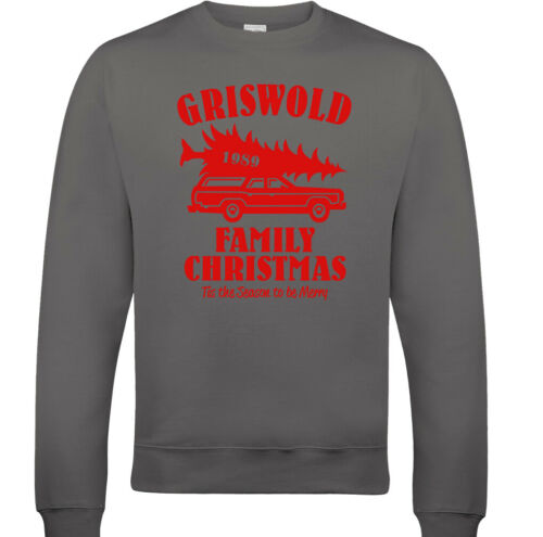 GRISWOLD FAMILY CHRISTMAS JUMPER National Lampoons Vacation XMAS Mens Sweatshirt