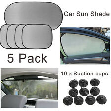 5 Pack Car Vehicle Sun Shades Rear Side Window Visor Block with 10 Suction Cups