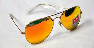 ray ban aviator orange flash