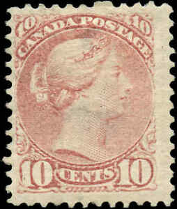 Mint-H-Canada-F-Scott-40-10c-1877-Small-Queen-Issue-Stamp