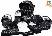 Twin Pram 3in1 Pushchair Double Buggy Twins +car Seats + Footmuffs 51 Colours