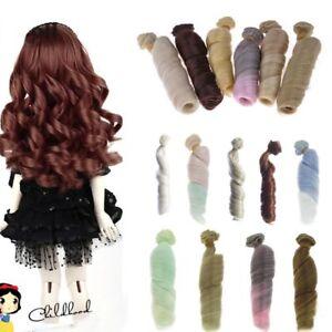 15CM-100CM-BJD-Doll-Hair-Wavy-Rainbow-Handmade-Curly-Wig-1-6-1-4-1-3-BJD-SD