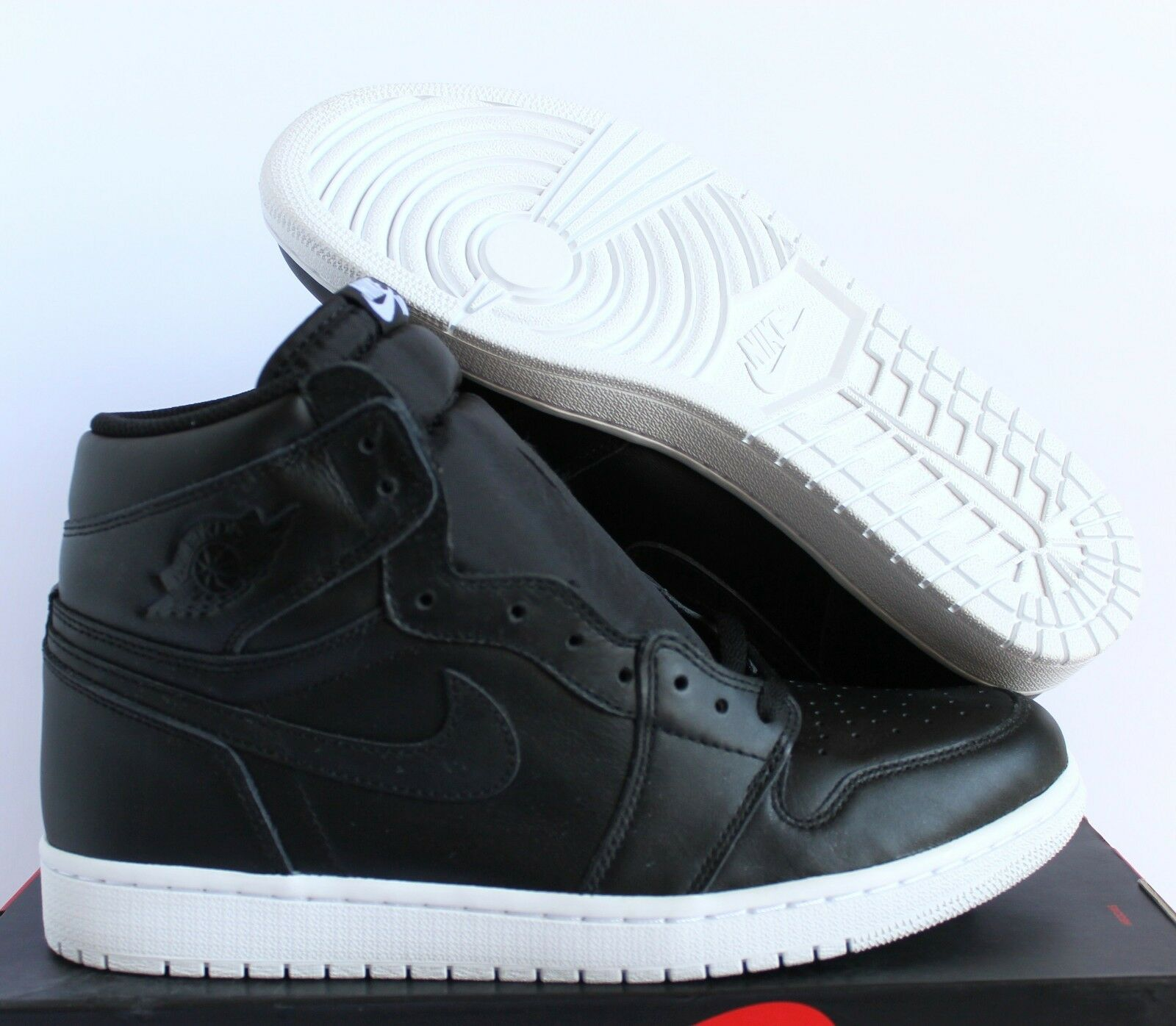 Nike Hommes Air Jordan 1 Retro High OG Cyber Monday Noir -blanc 10