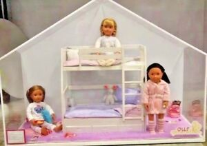 Rare Our Generation 18 Dolls Dream Bunk Bed Sleepover Store Display