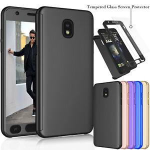 low priced e4131 57e53 Details about For Samsung Galaxy J7 Refine /J7 2018 Full Protective Case  Cover +Tempered Glass