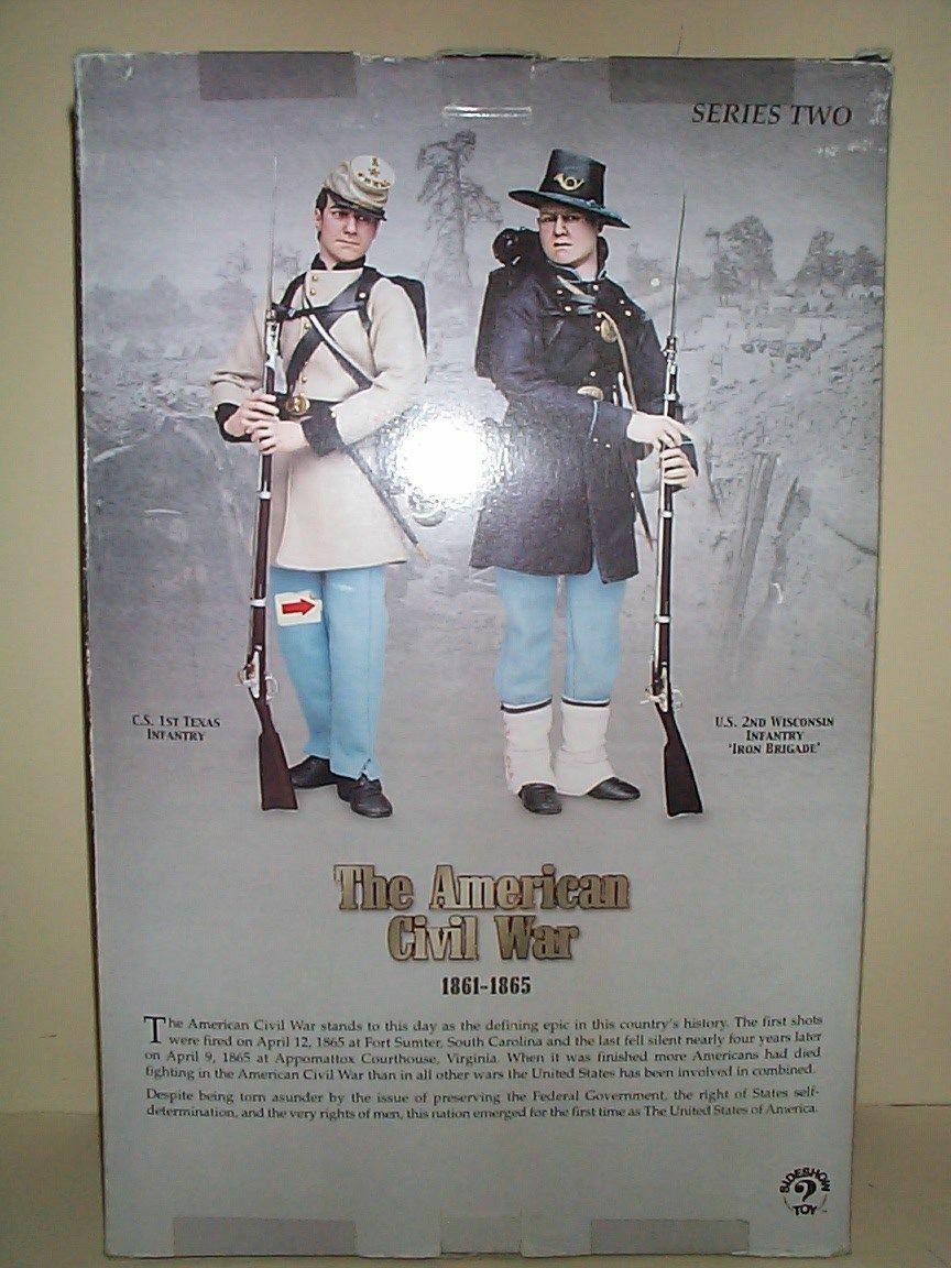 SIDESHOW 12 INCH CIVIL WAR UNION ARMY 2ND WISCONSIN IRON BRIGADE SOLDIER MIB