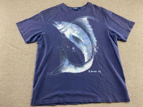 Polo Ralph Lauren Shirt Fishing Marlin Swordfish R