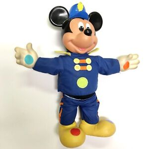 """Vintage 1990 DISNEY~Mattel Mickey Mouse Musical Band Leader Plush 14""""  Toy"""