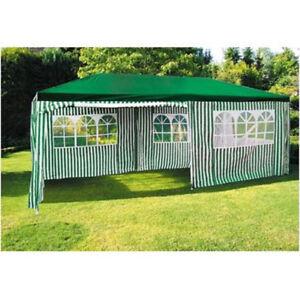 Party-Pavillon 6x3m Vert-Blanc Kiosque de Jardin Tente / Chapiteau ...