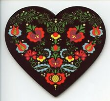 Scandinavian Nordic Folk Art Flowers Christmas Ornament EL140