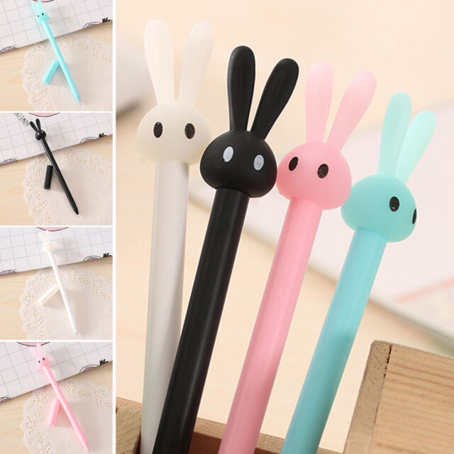 Neu 4pcs/Lot Cute Rabbit Gel Ink Pen Creative Stationery Student Random New