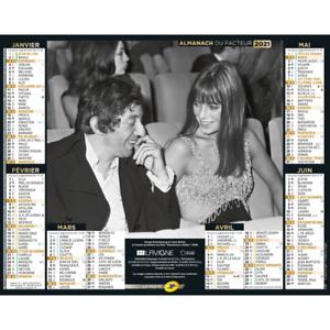 Calendrier De La Poste 2021 Calendrier ptt La Poste Almanach Serge Gainsbourg Jane Birkin 2021