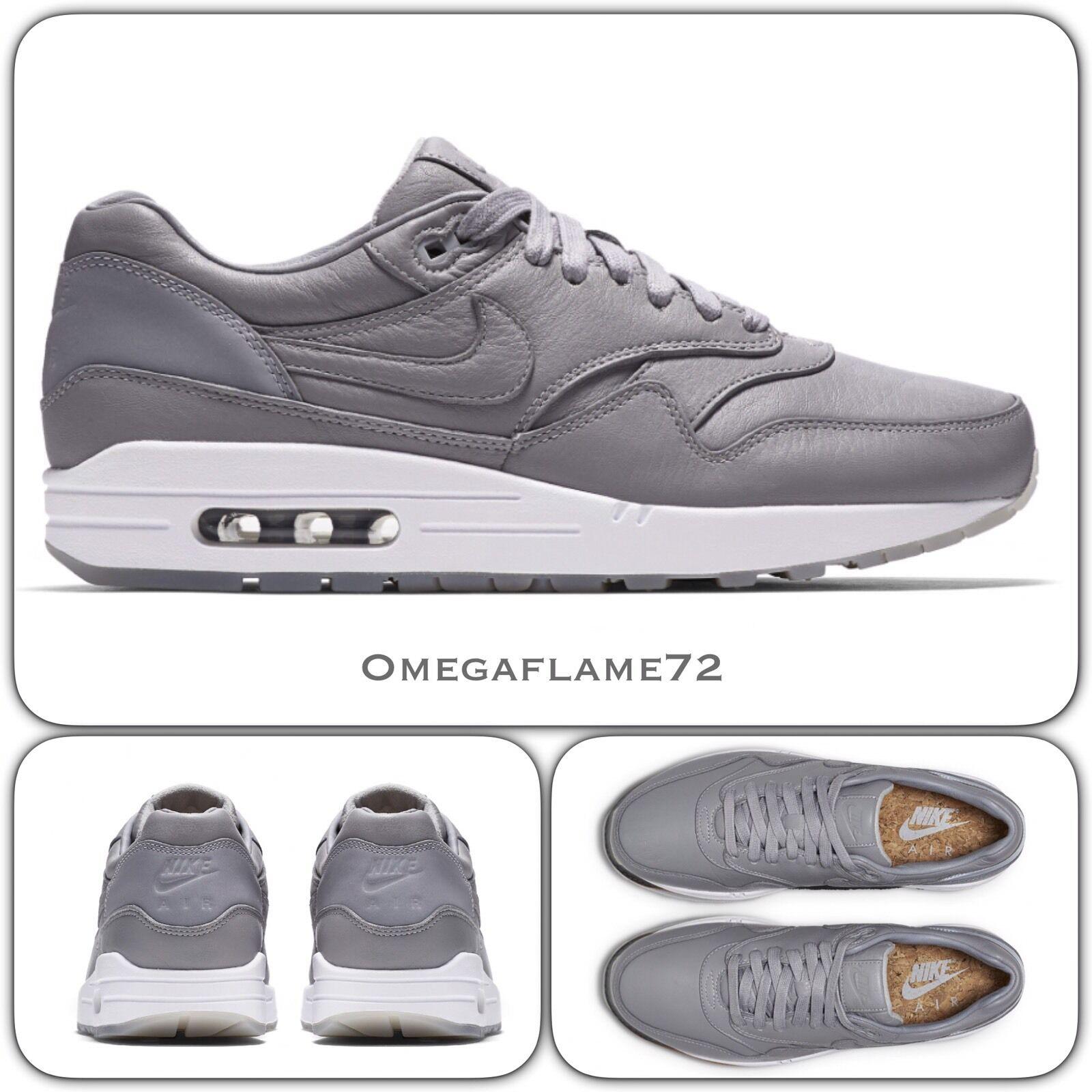 NikeLab Air Max 1 Deluxe Pinnacle Wolf  Gris Gris Gris  859554-0028 EU 42.5 US 9 Nike 3c1246