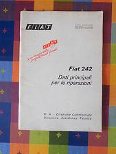 603D - FIAT 242 G. A. DIR. COMM.LE DIREZIONE ASSISTENZA TECNICA