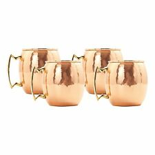 Old Dutch 24 oz. Hammered Solid Copper Moscow Mule Mugs (Set of 4)
