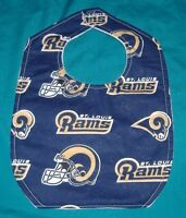 New BABY CHILD BIB   ST.LOUIS RAMS FOOTBALL TEAM HELMET NFL  /SHIPPING DISCOUNTS
