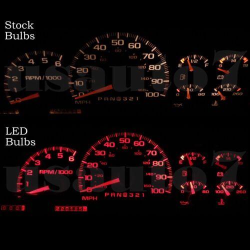 Dash Instrument Cluster Gauge RED SMD LEDs LIGHTS BULBS KIT Fits 95-98 GMC Yukon
