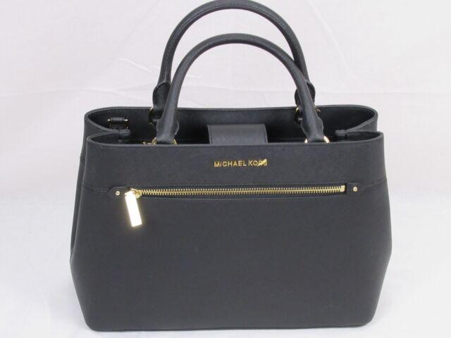 bbc374f71f4e Michael Kors Hailee 35s8gx2s2l MD Leather Satchel Handbag Black for ...