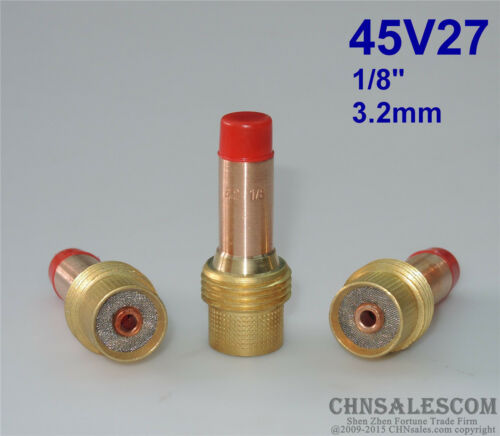 "3 pcs 45V27 Collet Body Gas Lens for Tig Welding Torch WP-17-18-26 3.2mm 1//8/"""