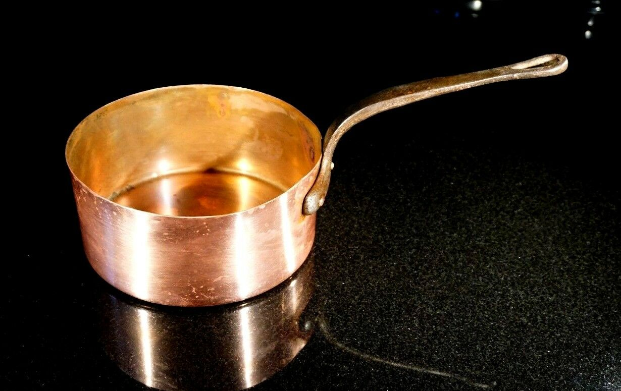 Vintage French Copper Cookware 3lt Pot
