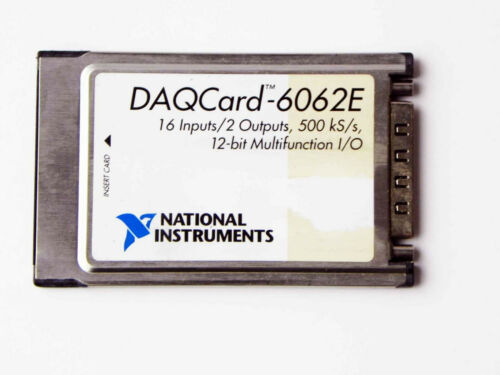 National Instruments DAQCard6062E NI DAQ PCMCIA 12bit IO Card