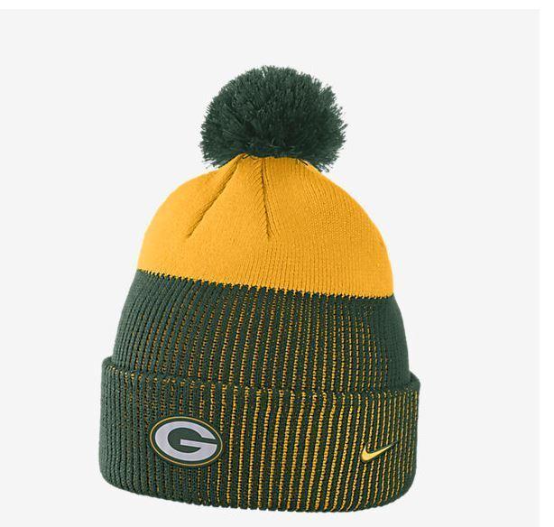 e30655ea Nike Men's Days NFL Green Bay Packers Knit Beanie Hat 875728 323 Green