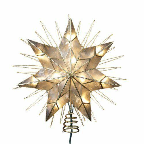 NEW Kurt Adler 14 7 Point Natural Capiz Star Lighted Lighted Lighted Treetop FREE SHIPPING 76afff