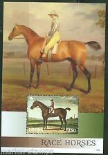 LIBERIA 2014 RACE HORSES  II  SOUVENIR SHEET    MINT NH