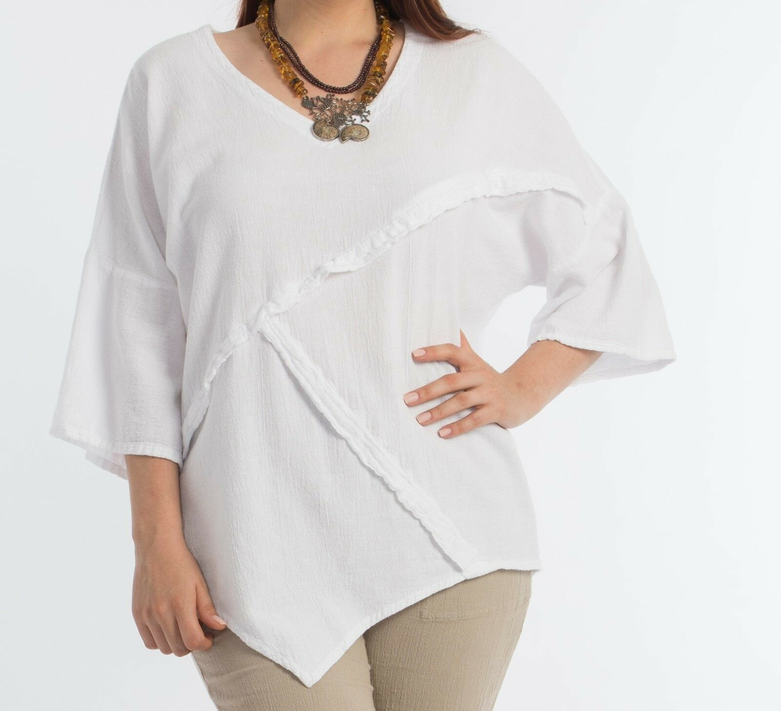 Piquito Top by Dunes Relaxed Fashions, New with Tags, 100% Cotton, Free Shipping