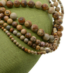 Grade-AAA-Genuine-Picture-Jasper-gemstone-round-loose-beads-strand-4-6-8-10mm