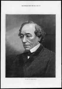 1874-Antique-Print-PORTRAITS-Right-Hon-Benjamin-Disraeli-Conservative-42