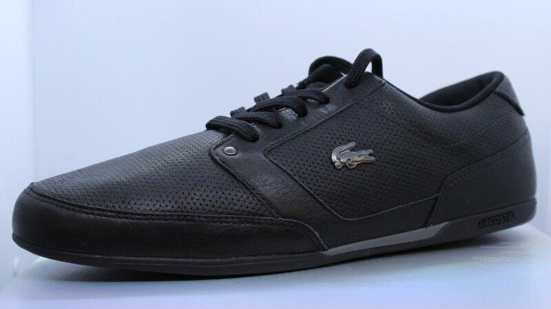 Lacoste Sheldon l bc SPM negro dark gris Leather cortos