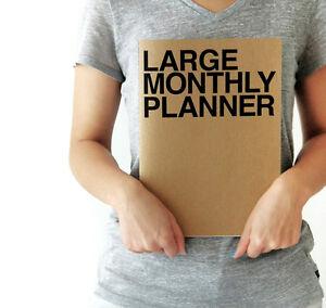 Jstory Large 13 Monthly Planner Calendar Kraft Diary Scheduler Notebook Korean